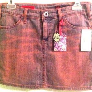 AG Jeans Soft Thin Denim Jean Skirt